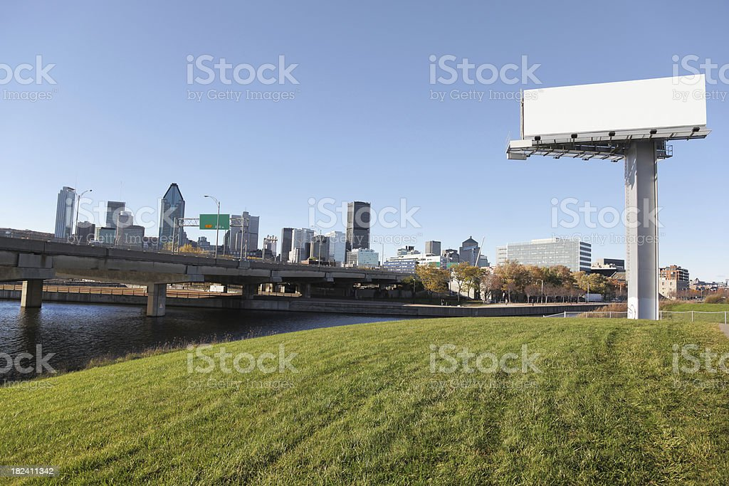 Large commercial sign in Montreal royalty-free stock photo