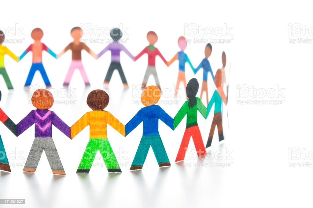 Large community circle stock photo