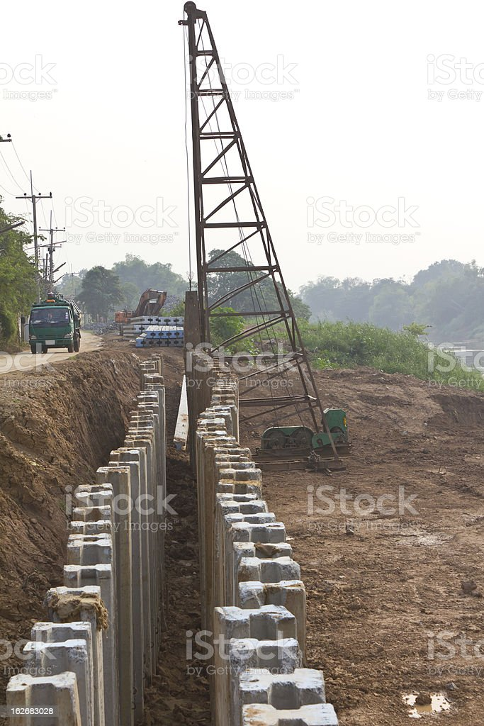 Large concrete construction. royalty-free stock photo