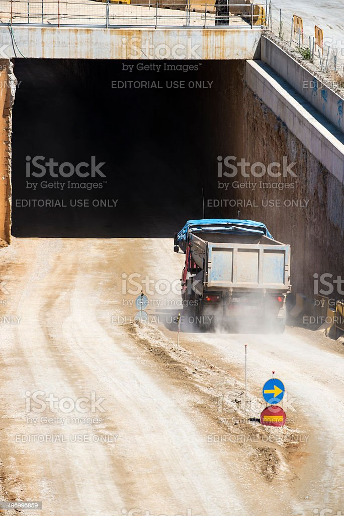 Large construction site in Barcelona stock photo