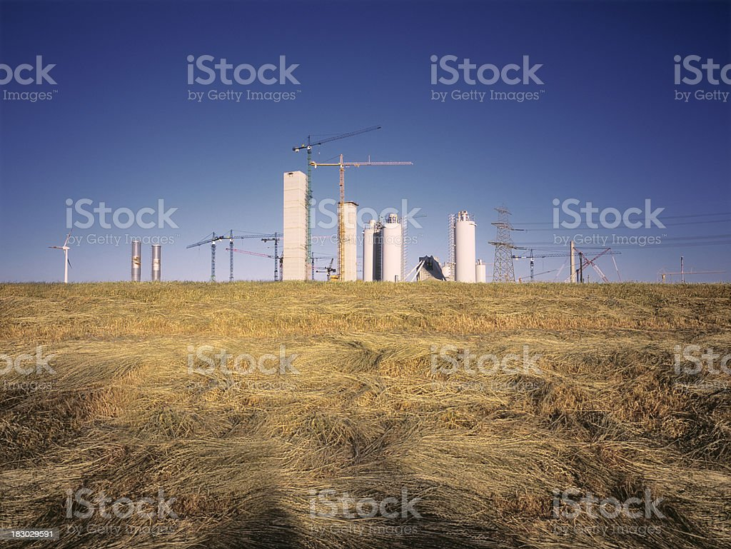 Large construction site in the harbour of Hamburg. royalty-free stock photo