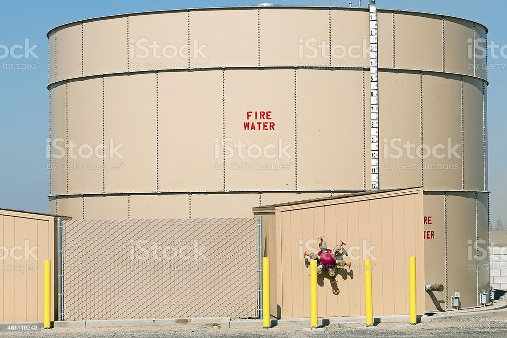 Large container for water in California royalty-free stock photo