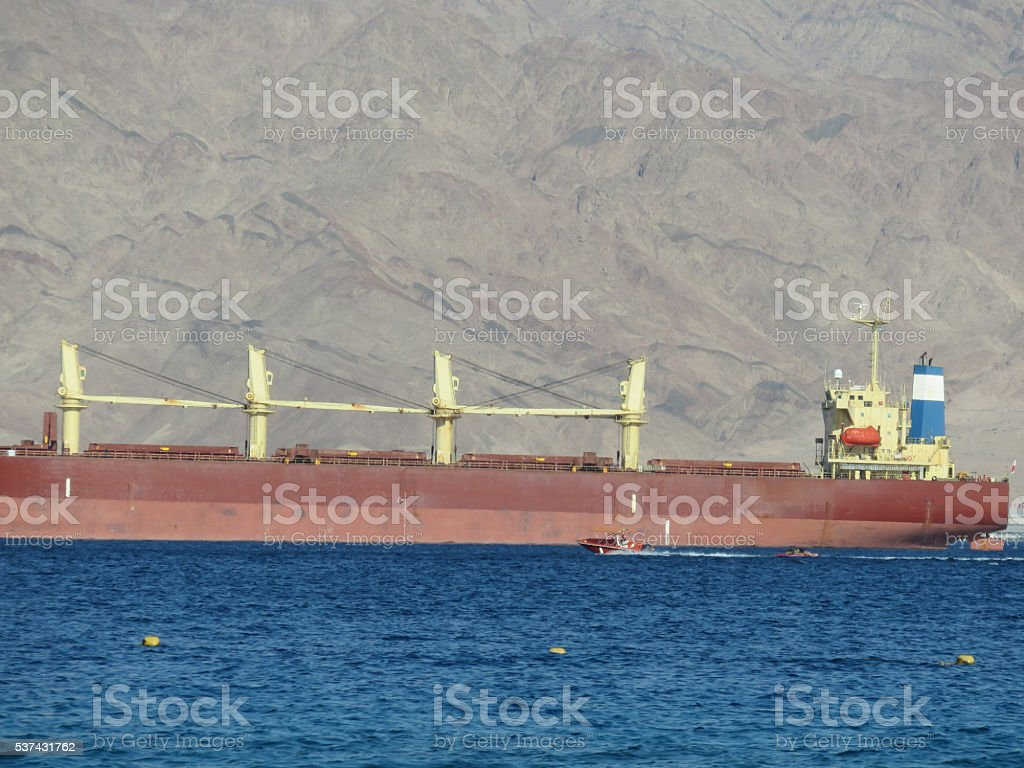 Large container vessel stock photo
