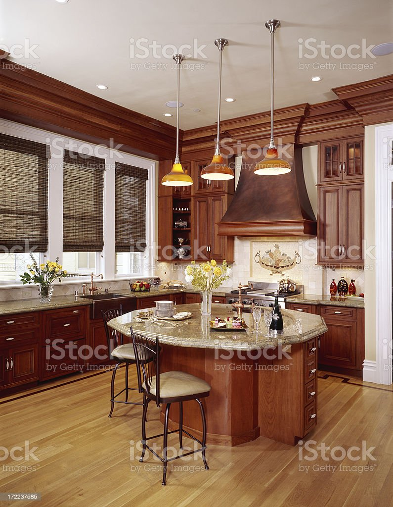 Large Copper Colored Kitchen 2 royalty-free stock photo