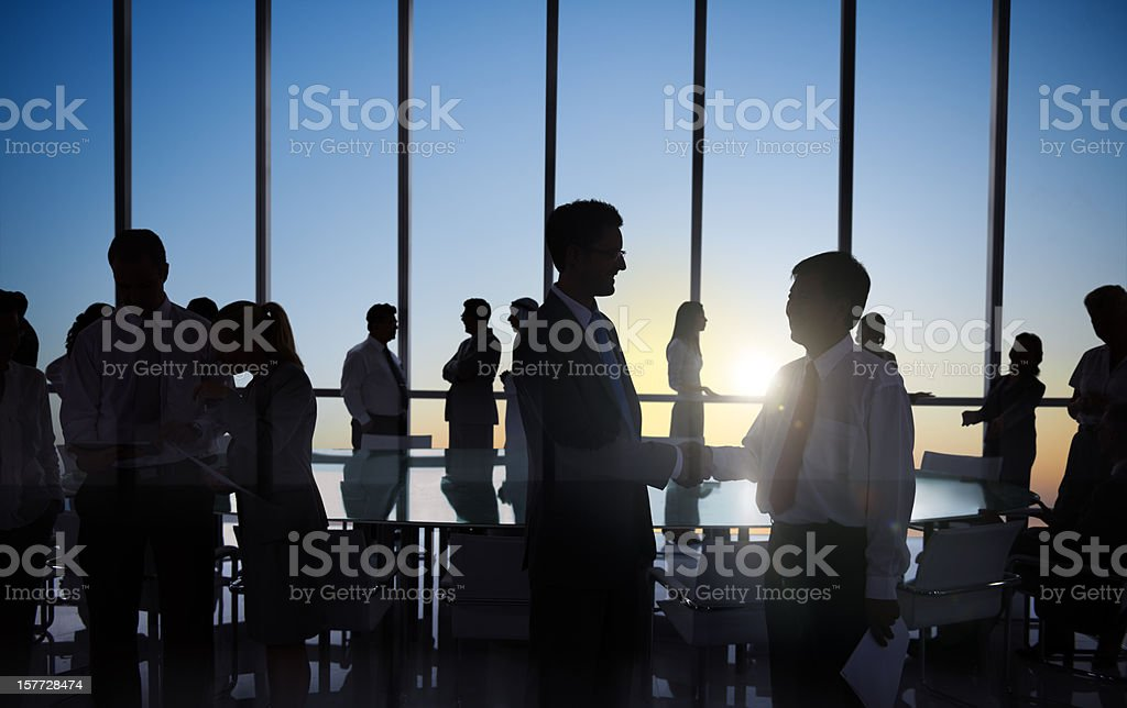 Large Corporate Meeting. royalty-free stock photo