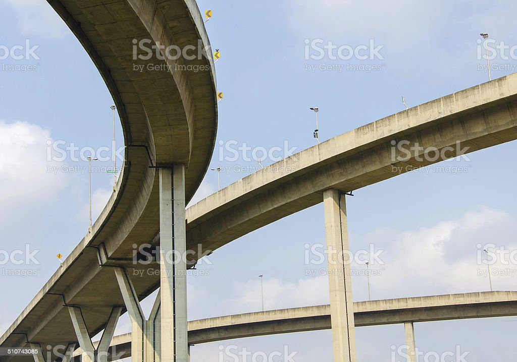large crossing highway overhead stock photo