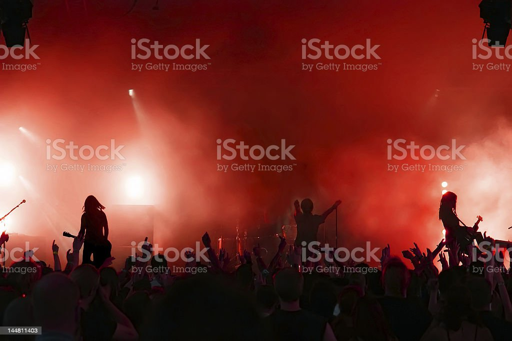 A large crowd at a rock concert royalty-free stock photo