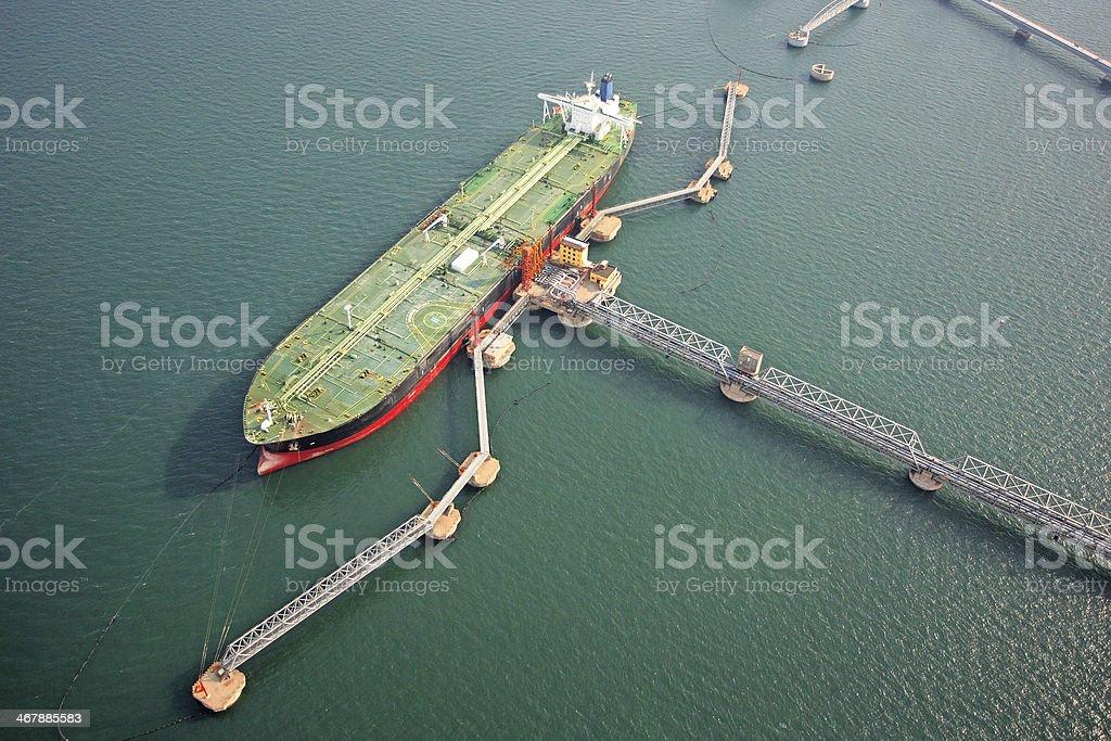 Large crude oil terminal stock photo