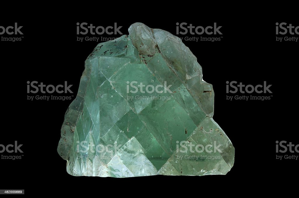 large. crystal .fluorite royalty-free stock photo