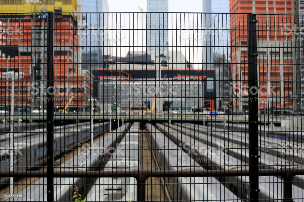 Large depot in new York on the background stock photo