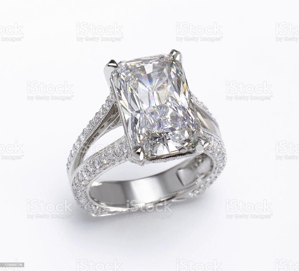 Large Diamond Ring royalty-free stock photo