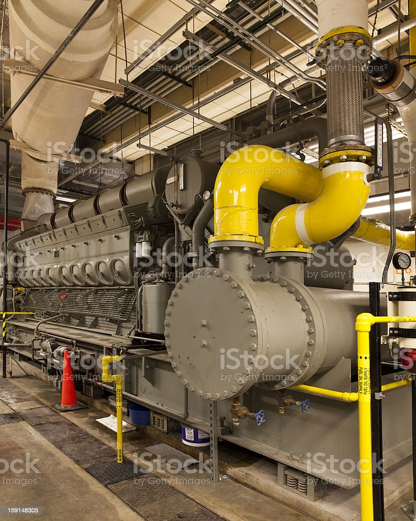 Large Diesel generator stock photo