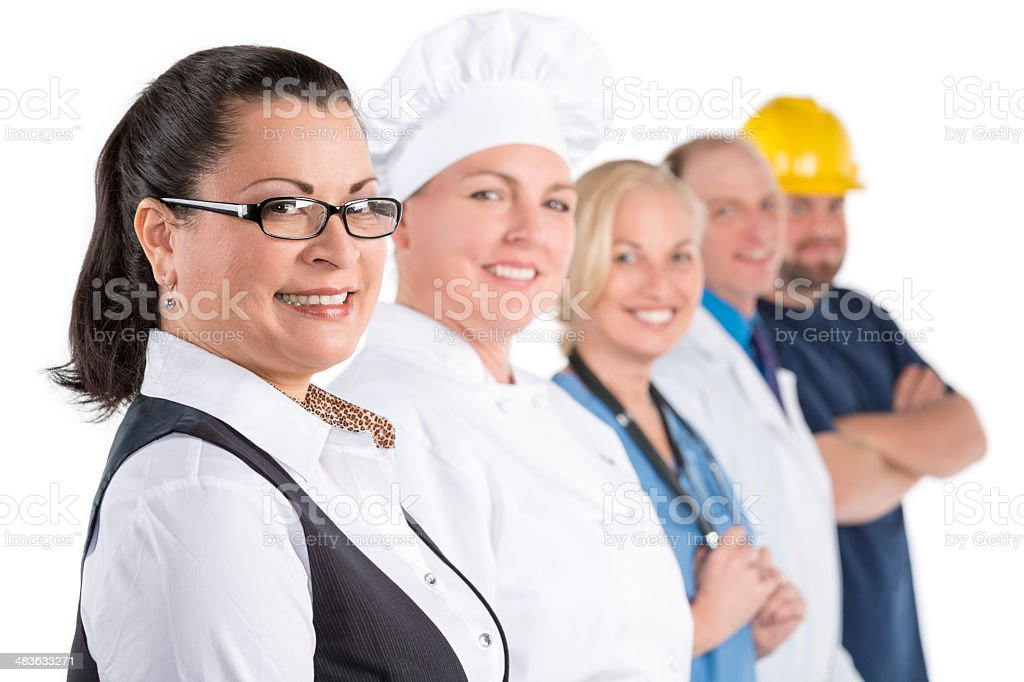 Large diverse group of people with different occupations royalty-free stock photo
