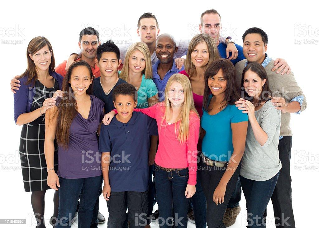 large diverse group shot royalty-free stock photo