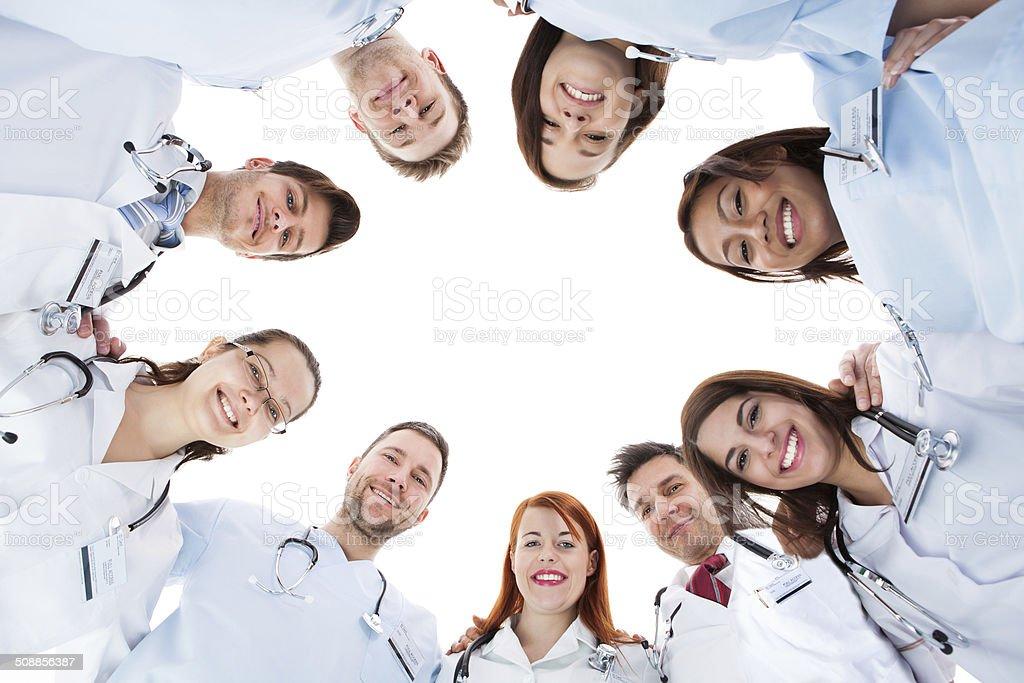 Large diverse multiethnic medical team stock photo