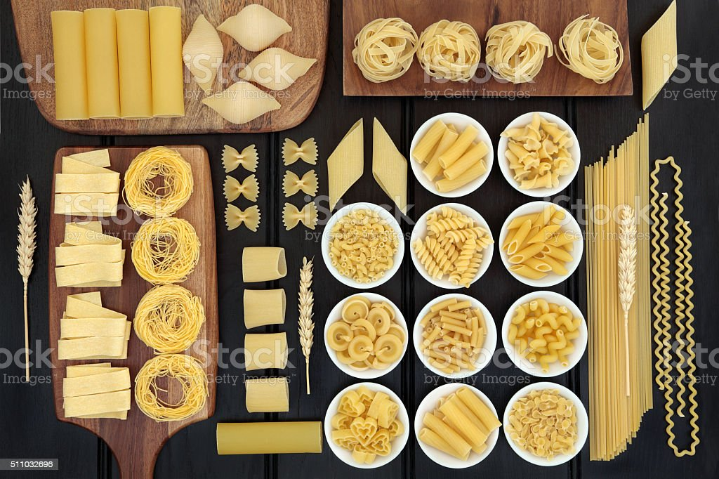 Large Dried Pasta Selection stock photo