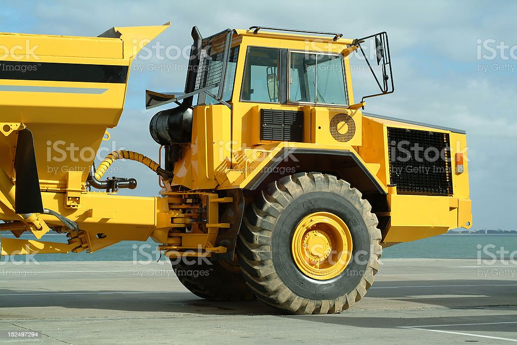 Large dumper truck in construction site royalty-free stock photo