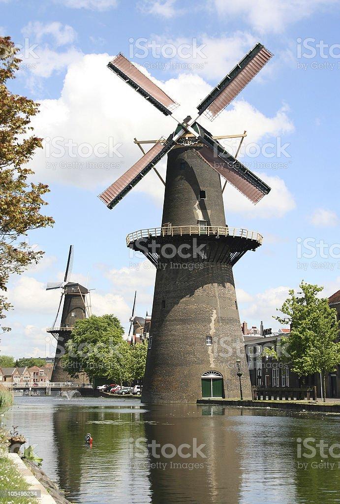 Large Dutch Windmill stock photo