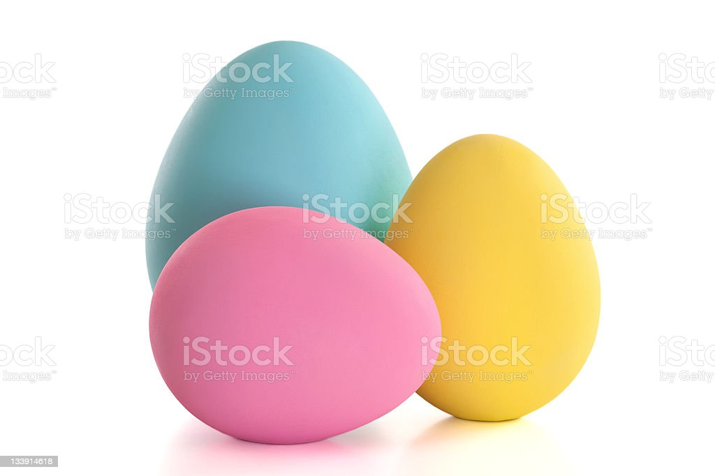 Large Easter Eggs stock photo