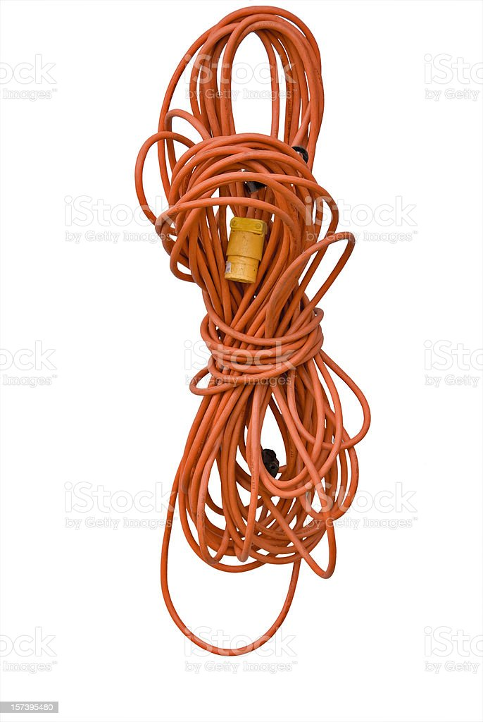 Large Electrical Extension Cord royalty-free stock photo