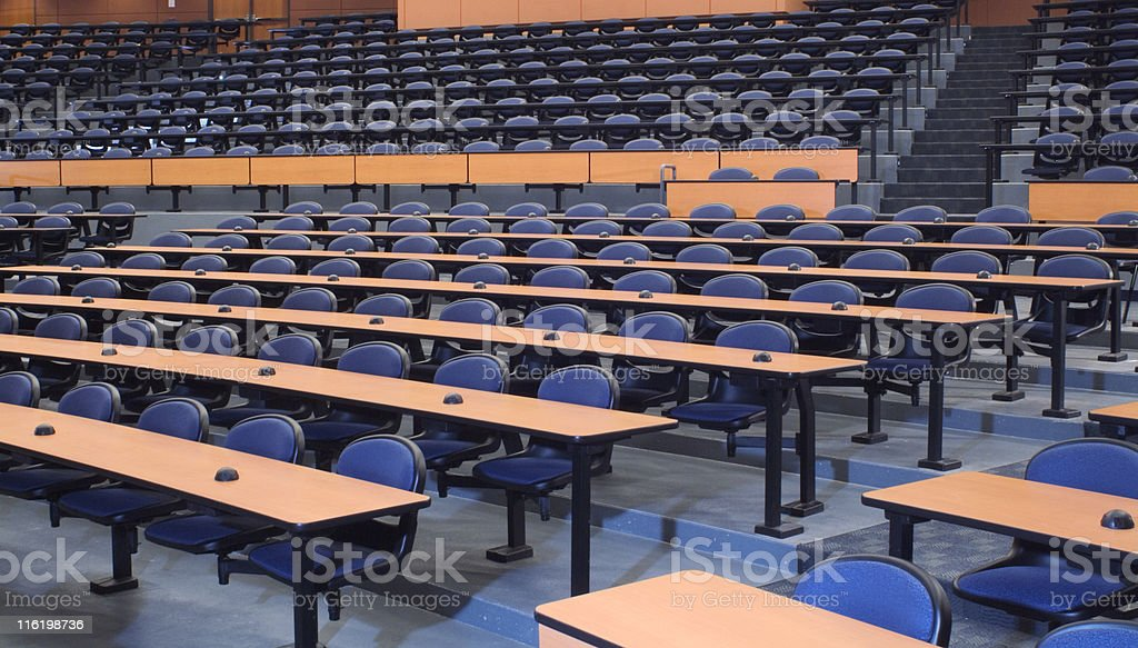 large empty lecture hall royalty-free stock photo