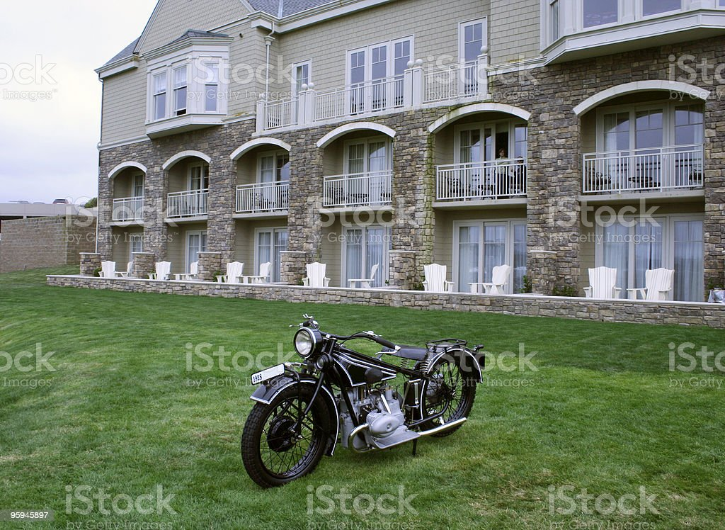 Grande propriété et de moto Vintage photo libre de droits