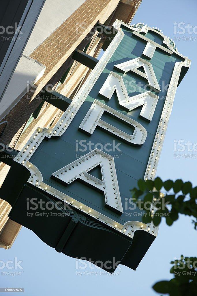 Large exterior Tampa sign stock photo