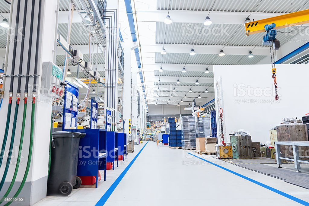 Large factory with equipment stock photo
