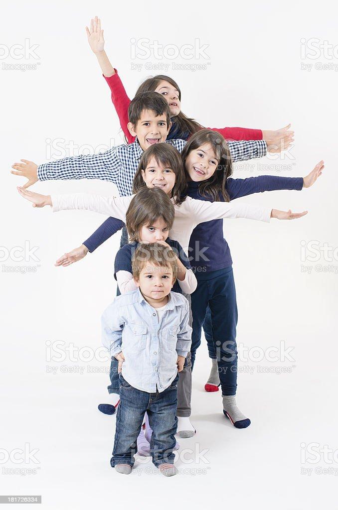 Large Family stock photo