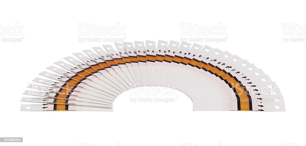 Large fantail of the test strips royalty-free stock photo