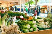 large farmer's market in Munich, Germany