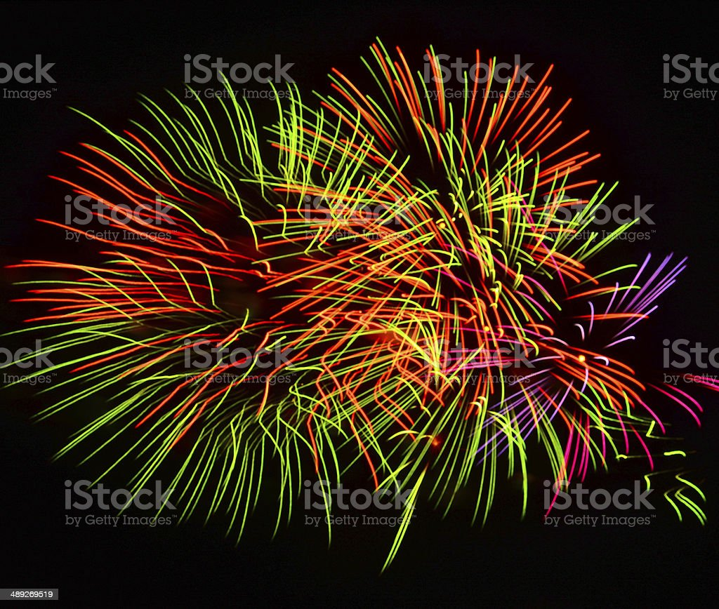 large Fireworks Display event. stock photo