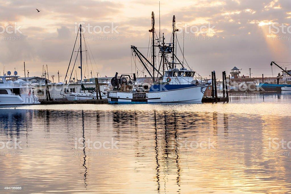 Large Fishing Boat Westport Grays Harbor Washington State stock photo