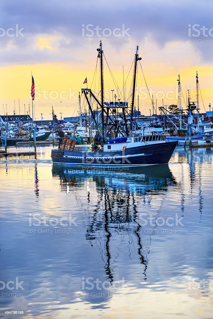 Large Fishing Boat Westport Grays Harbor Washington State stock photo