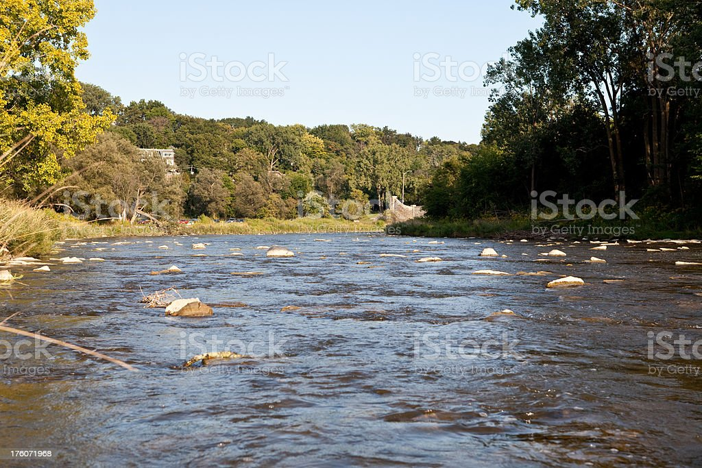 large flowing river royalty-free stock photo