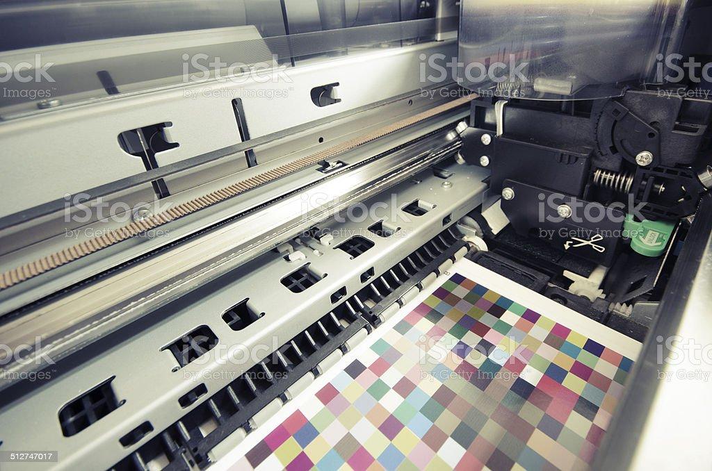 large format ink jet printer cartridge, vintage stock photo