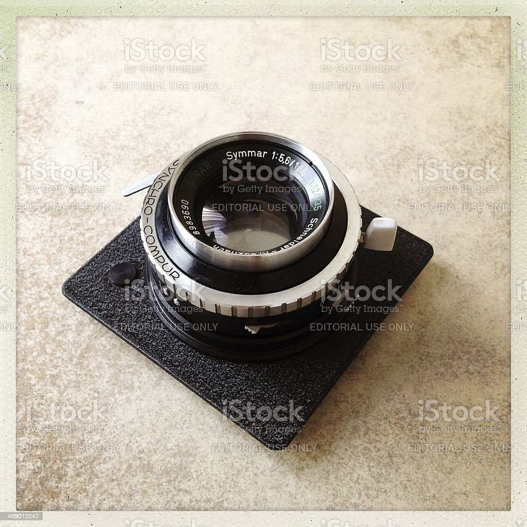 large format lens royalty-free stock photo