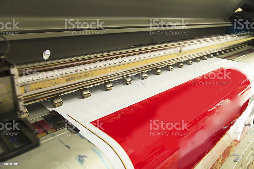 Large format outdoor ink jet royalty-free stock photo