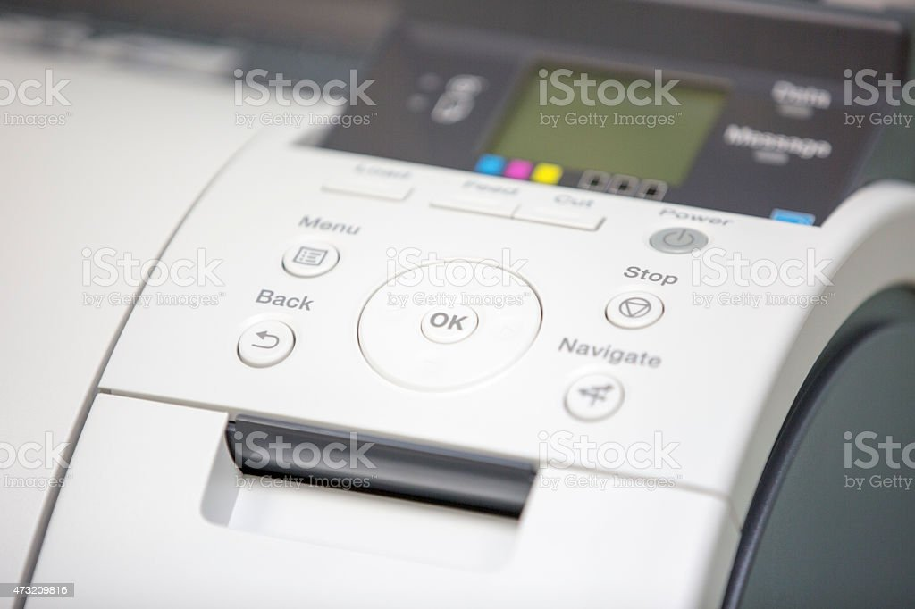 Large format printer stock photo