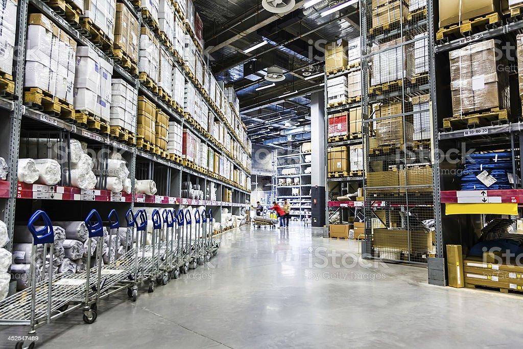 Large furniture warehouse royalty-free stock photo