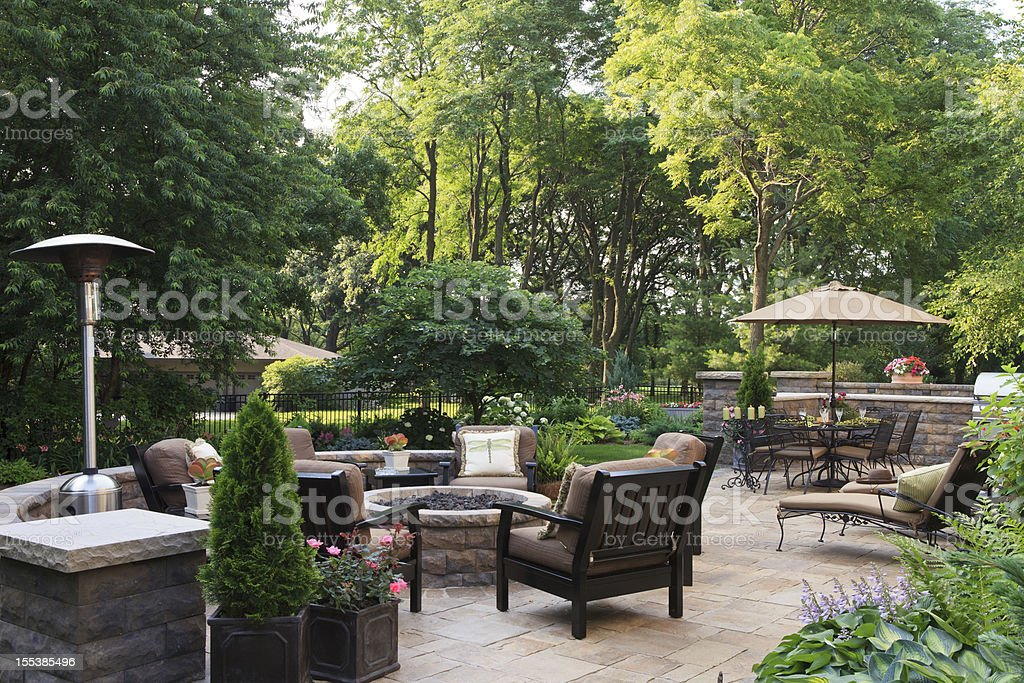 Large Garden Patio stock photo