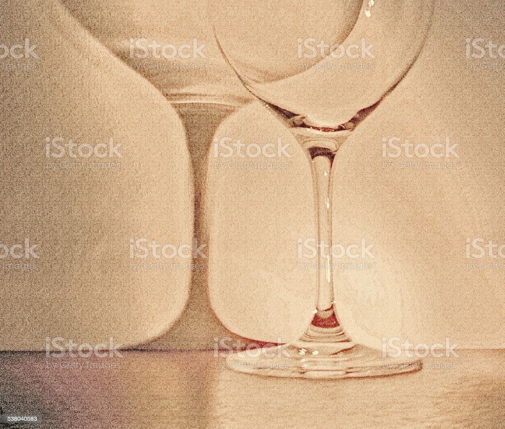 large glass of wine on dark background stock photo