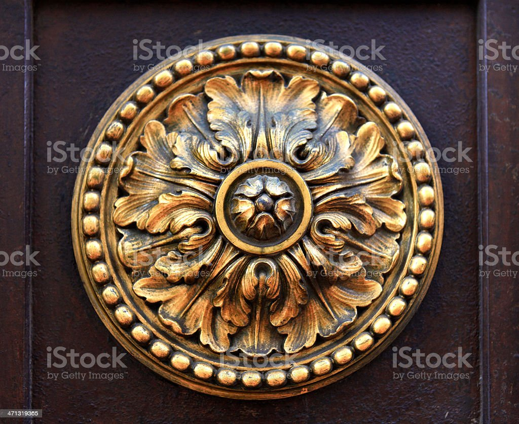 Large Gold Ornament royalty-free stock photo