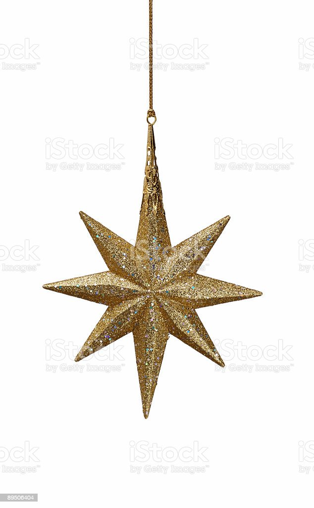 Large Golden Star stock photo