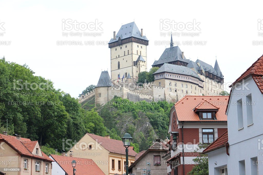 Large Gothic Castle stock photo