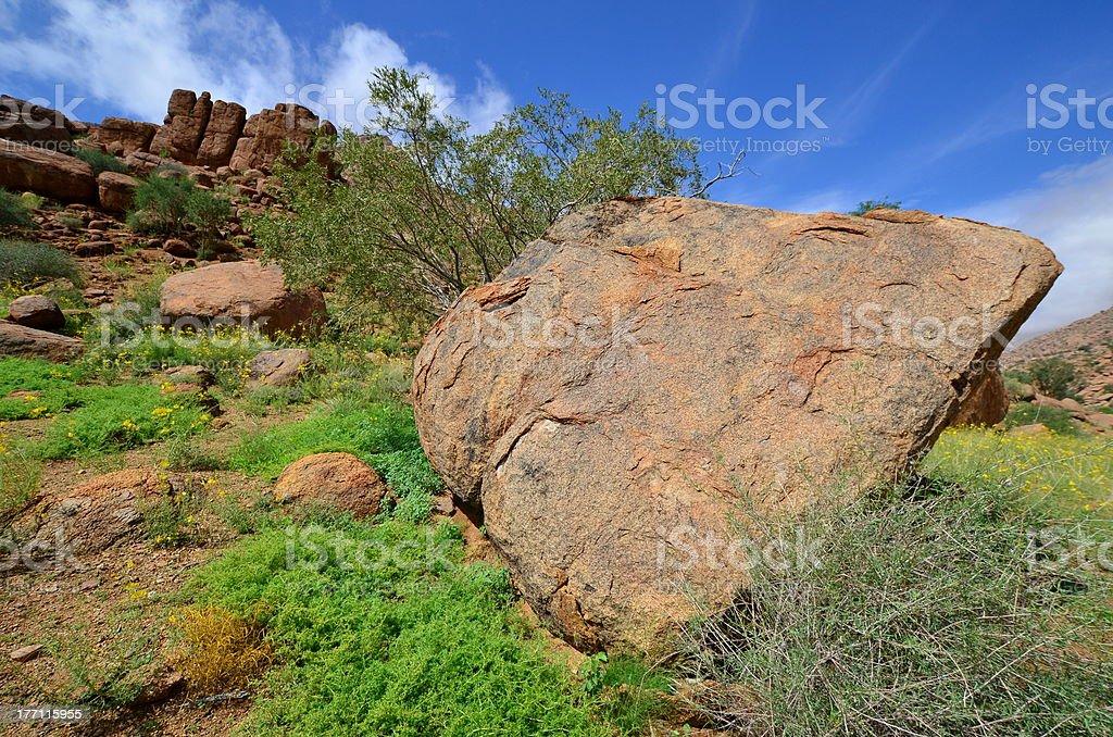 Large granite boulders, stock photo