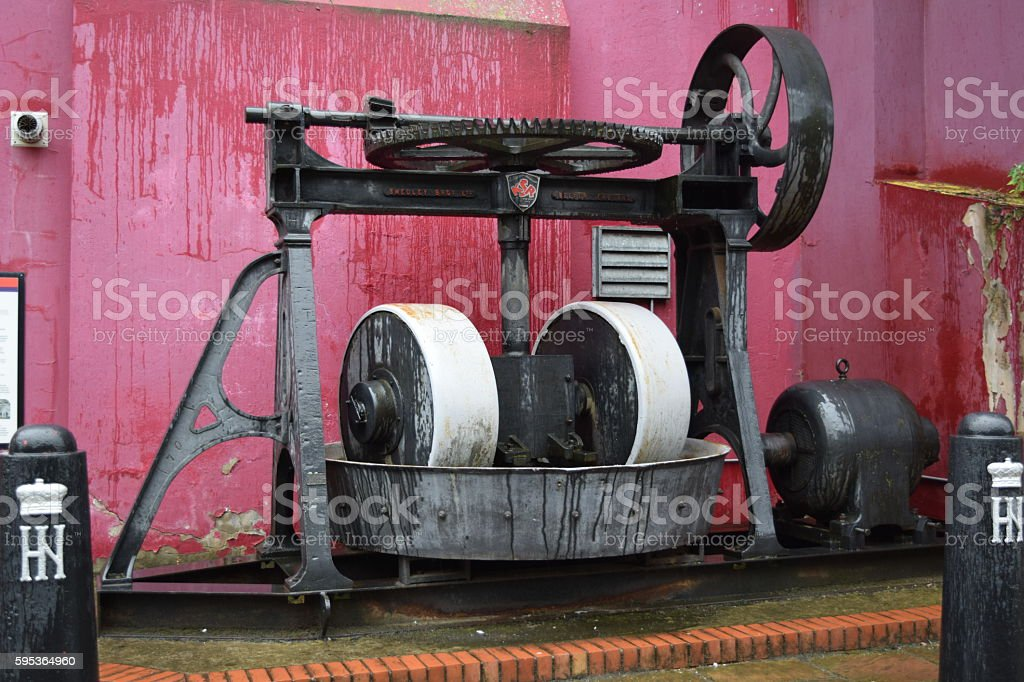 Large grinding machine stock photo