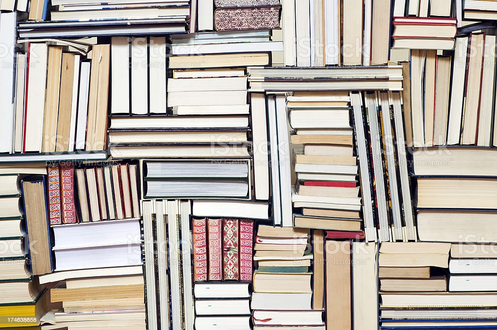 Large group of books stock photo