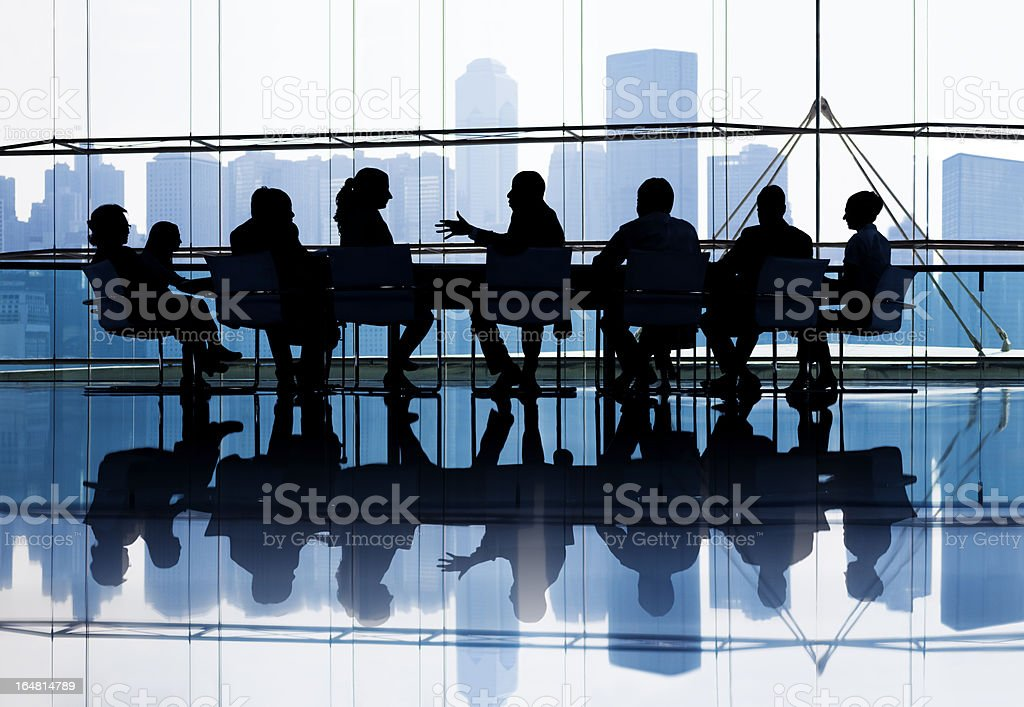 Large group of Business people meeting stock photo