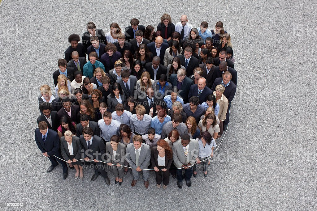 Large group of business people royalty-free stock photo